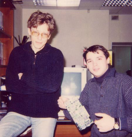 Андрей Кузин и и второй родитель 3dfx Аmigo - зима  1997