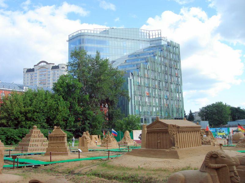 Фестиваль песчаных скульптур в Москве
